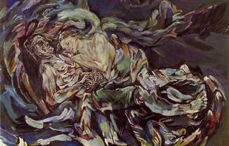 Extra_large__bride_of_the_wind___oil_on_canvas_painting_by_oskar_kokoschka__a_self-portrait_expressing_his_unrequited_love_for_alma_mahler__widow_of_composer_gustav_mahler___1913