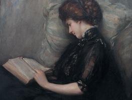 Small_lady_reading_poetry_by_ishibashi_kazunori__shimane_art_museum_